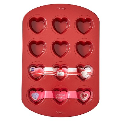 Wilton Heart Shaped Muffin Pan - 12 cavity