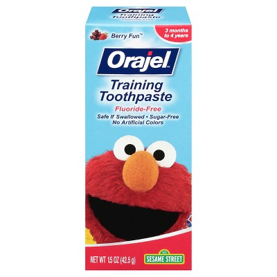Orajel Fluoride Free Training Toothpaste, Berry Fun - 1.5oz