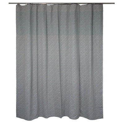 "Threshold™ Linework Geo Shower Curtain - Grey/Green (72""x72"")"