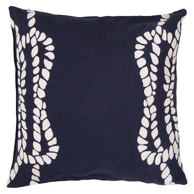 Jaipur Coastal Retreat Blue Decorative Pillow