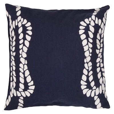 "Coastal Retreat Rope Throw Pillow Blue (20""x20"") - Jaipur"