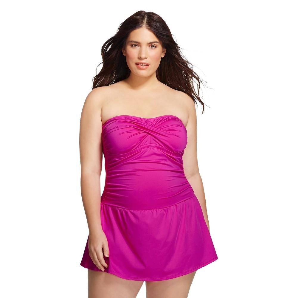Women\'s Plus Size Swim Dress Wine 22W - Clean Water, Magenta Haze ...