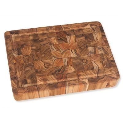 Teak Haus End Grain Cutting Board With Juice Canal - 20""