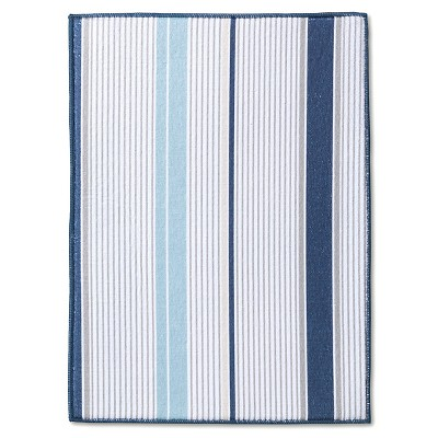 Room Essentials™ Stripe Drying Mat - Blue