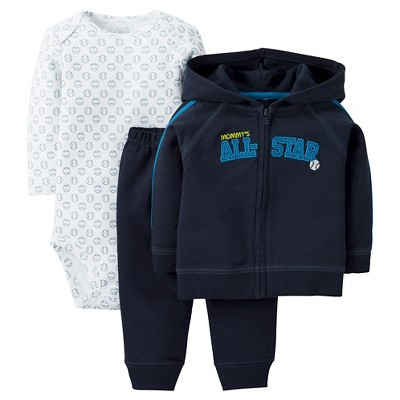 Just One You™ Made by Carter's® Baby Boys' 3- Piece Bodysuit Set - Blue 6 M