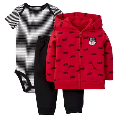 Just One You™Made by Carter's® Baby Boys' 3 Piece Hero Squad Set - Red 12M