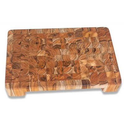 Teak Haus End Grain Cutting Board With Bowl Cut out - 20""