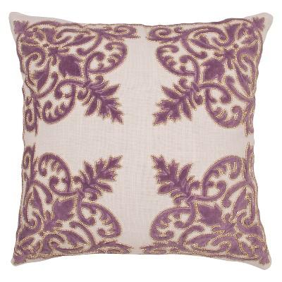 Jaipur Inspired By Jennifer Adams Purple Decorative Pillow