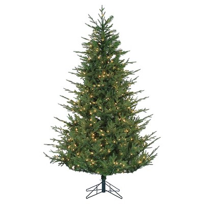 6.5 Ft. Pre-Lit Chesterfield Spruce Christmas Tree- Clear Lights