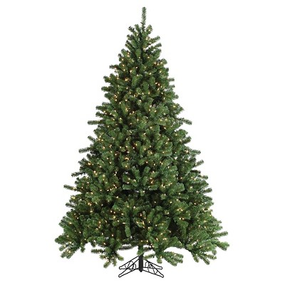 7.5 Ft. Pre-Lit Grand Canyon Spruce Christmas Tree- Clear Lights