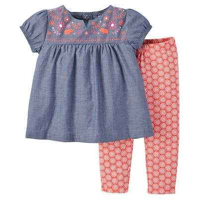 Just One You™ Made by Carter's® Baby Girls' 2-Piece Pant Set - Blue NB