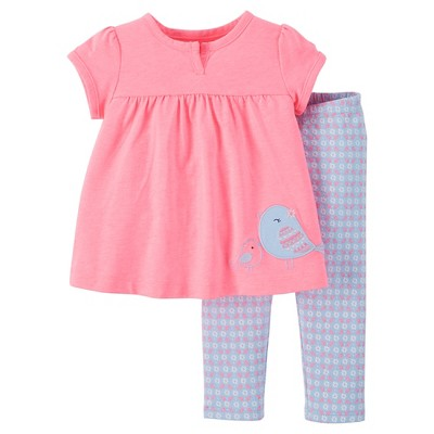 Just One You™ Made by Carter's® Baby Girls' 2-Piece Pant Set - Pink NB