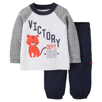 Just One You™ Made by Carter's® Baby Boys Tiger 2-Piece Pant Set - Gray NB