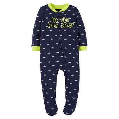 Just One You™ Made by Carter's® Baby Boys' Little Brother Sleep N' Play - Blue 3M