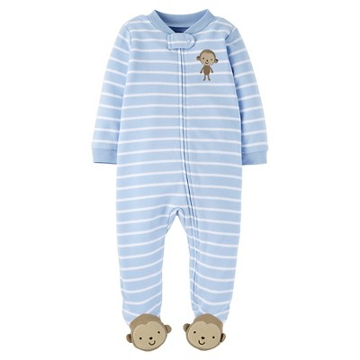 Just One You™ Made by Carter's® Baby Boys' Striped Monkey Sleep N' Play - Blue NB