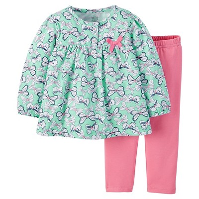Just One You™ Made by Carter's® Baby Girls' Floral 2-Piece Pant Set - Green NB