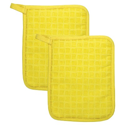 Silicone & Cotton Potholder - Set of 2