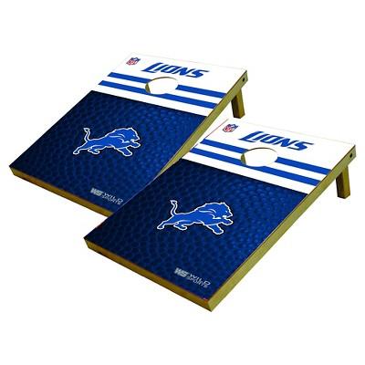 Detroit Lions Wild Sports Platinum Shield Cornhole Bag Toss Set - 2x3 ft.