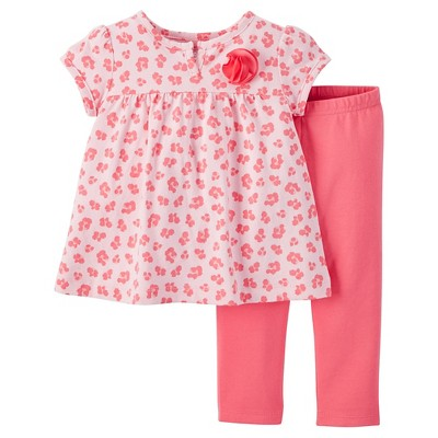 Just One You™ Made by Carter's® Baby Girls' Animal Print 2-Piece Pant Set - Pink 3 M