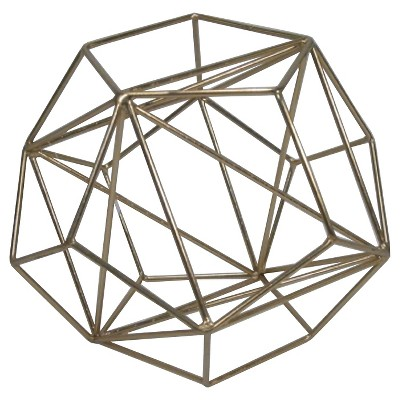 Threshold™ Metal Wire Decorative Figurine Large Brass