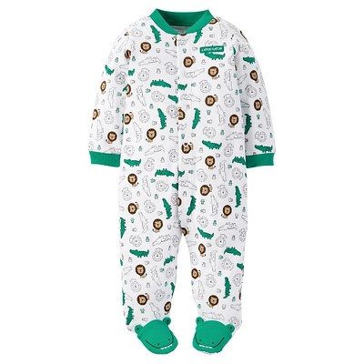 Just One You™ Made by Carter's® Baby Boys' Animal Print Sleep N' Play - White/Green NB