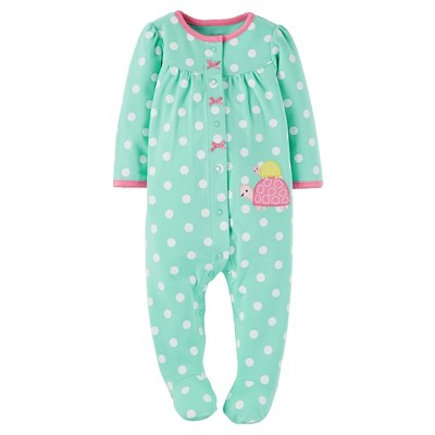 Just One You™ Made by Carter's® Baby Girls' Polka Dots Sleep N' Play - Green 9M
