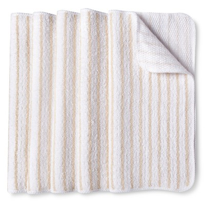 Room Essentials™ Stripe Dishcloth Scrubber Tan - Tan (5 Pack)
