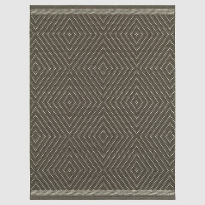 8'x10' Outdoor Rug - Coffee Textured Diamond - Smith & Hawken™