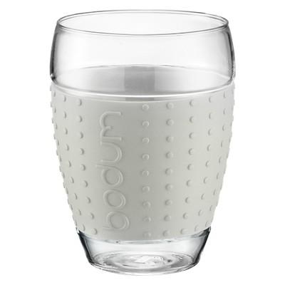 Bodum Pavina Glass with Silicon Grip Set of 2 (15 oz) -White