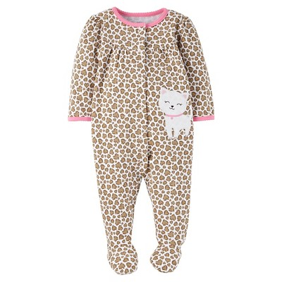 Just One You™ Made by Carter's® Baby Girls' Animal Print Sleep N' Play - Brown 9M