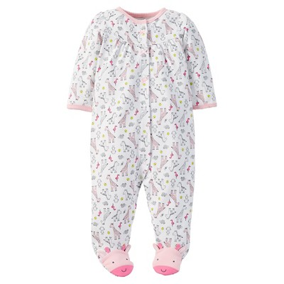 Just One You™ Made by Carter's® Baby Girls' Giraffe Sleep N' Play - White NB
