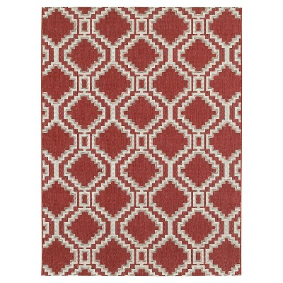 7'x10' Outdoor Rug - Red Southwest - Threshold™