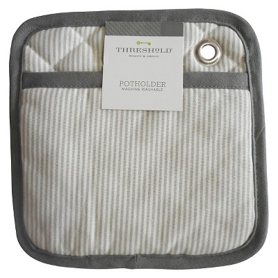 Threshold™ Stripe Pot Holder - Gray
