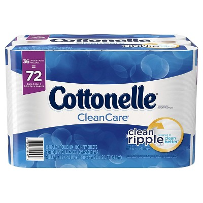 Cottonelle Clean Care Toilet Paper Double Rolls, 36pk, 190ct