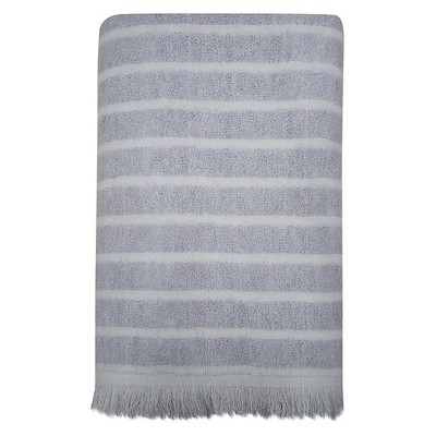 Threshold™ Bath Towel - Grey/White Stripe