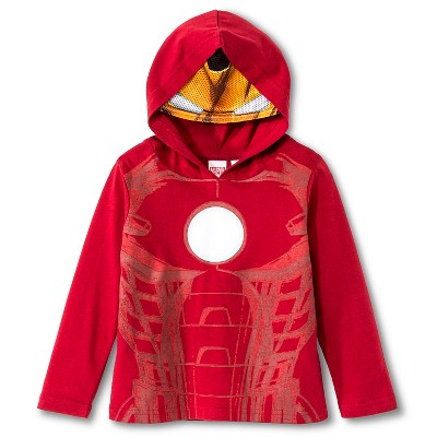 Toddler Boys' Ironman Masked T-Shirt - Red  5T long Sleeve