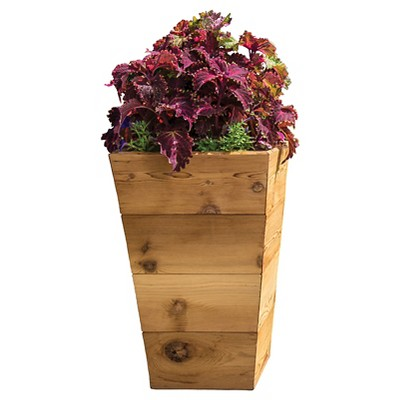 "Red Cedar Floor Planter 13"" - Gronomics"