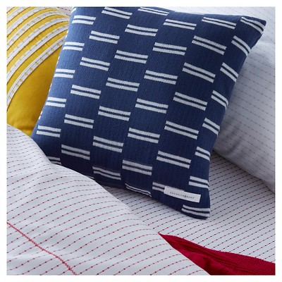 "Brooklyn & Bond Monroe Stripe Decorative Pillow - Navy (16""x16"")"