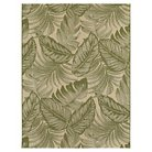Tropical Leaves Green Outdoor Rug - Threshold™
