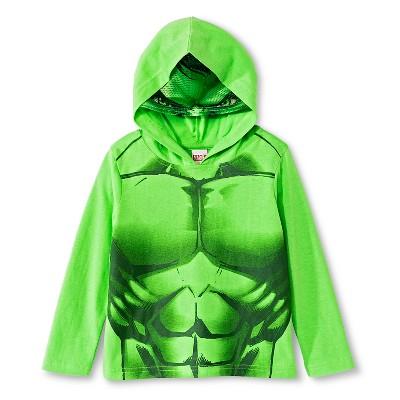 Male Tee Shirts The Incredible Hulk Green 3T