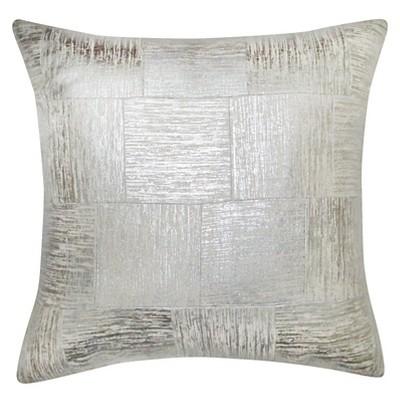 Threshold™ Silver Cross-Hatch Pillow 18