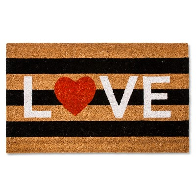 Valentine's Love Coir Doormat