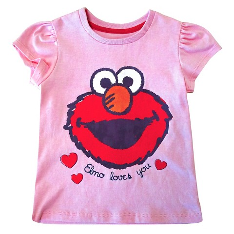 Toddler Girls Elmo T Shirt Pink Tar