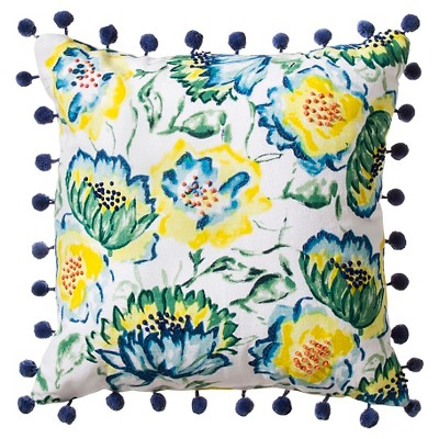 Decorative Pillow Threshold Urban Yellow Multi-colored Blue