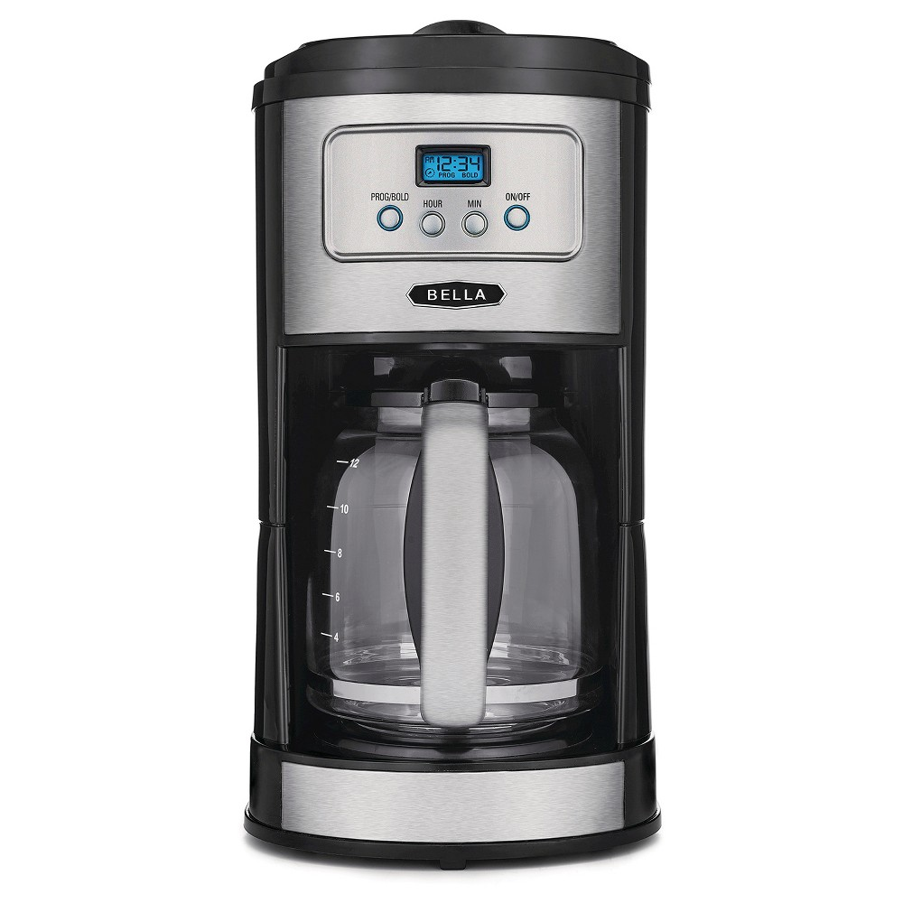 Bella Classics 12 Cup Programmable Coffee Maker - Stainless Steel, Black