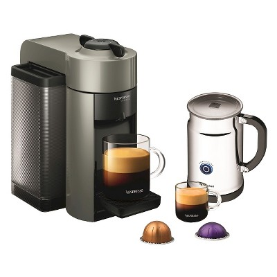 Nespresso VertuoLine Grey Evoluo Espresso & Coffee Machine with Aeroccino + Milk Frother