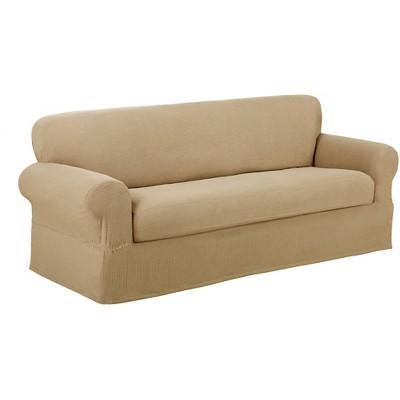 Maytex Stretch 2 Piece Reeves Slipcover Sofa - Natural