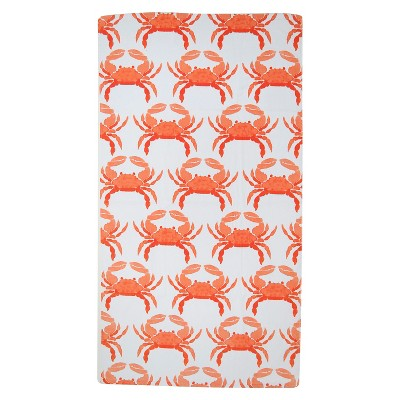 Evergreen Basics Fashion Orange Crabs Beach Towel - Orange