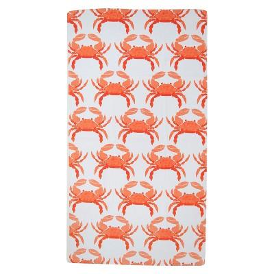 Evergreen Basics Fashion Orange Crabs Beach Towel - Orange