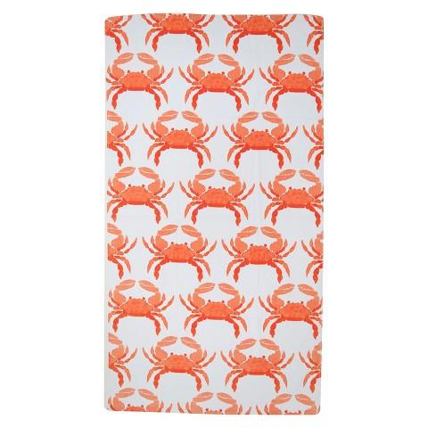 Evergreen Basics Fashion Orange Crabs Beach Towe... : Target